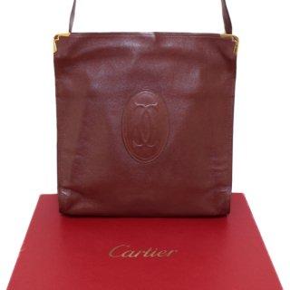 Cartier カルティエ ヴィンテージ<br>マストラインがま口ショルダーバッグ