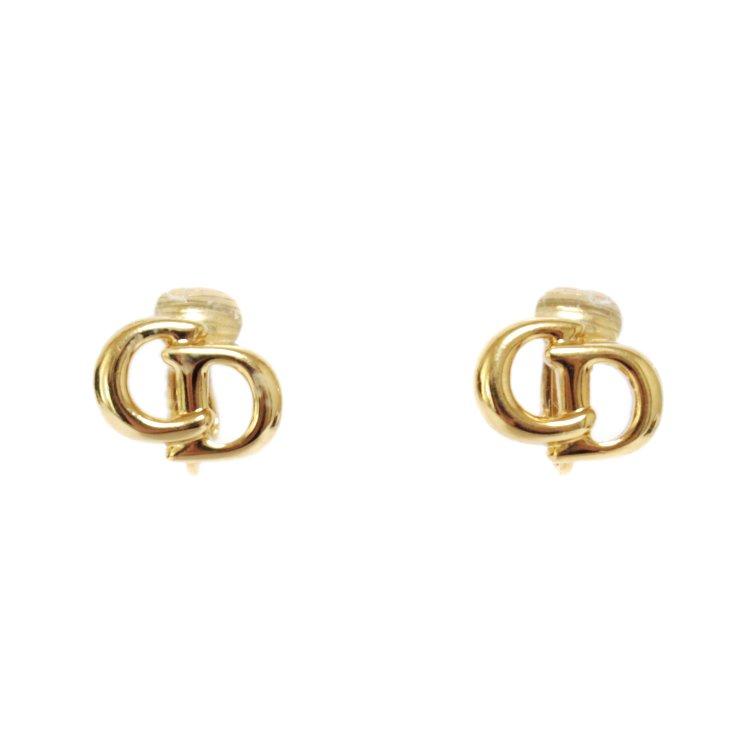 Dior ディオール ヴィンテージ<br>ロゴゴールドイヤリング