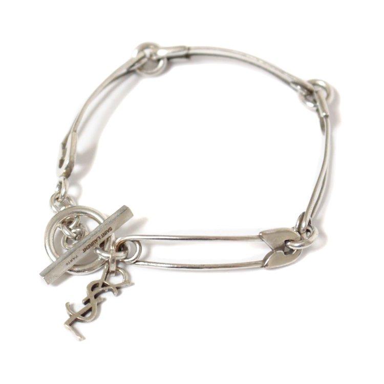 SAINT LAURENT PARIS サンローランパリ<br>ピンモチーフシルバーブレスレット