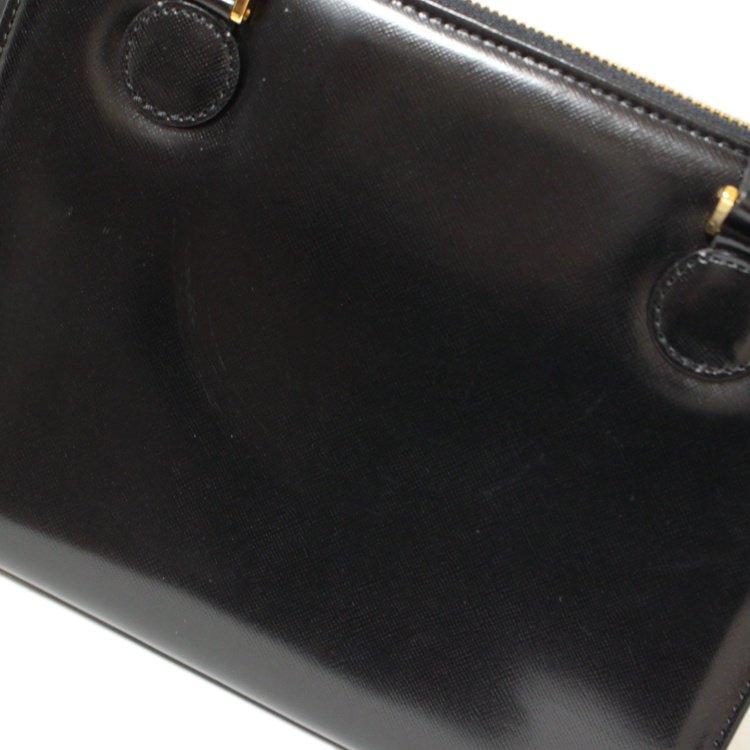 VERSACE ヴェルサーチ ヴィンテージ<br>サンモチーフレザーハンドバッグ