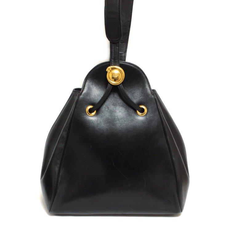 Cartier カルティエ ヴィンテージ<br>パンテールレザーワンショルダーバッグ
