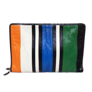 BALENCIAGA バレンシアガ ヴィンテージ<br>マルチカラーレザークラッチバッグ