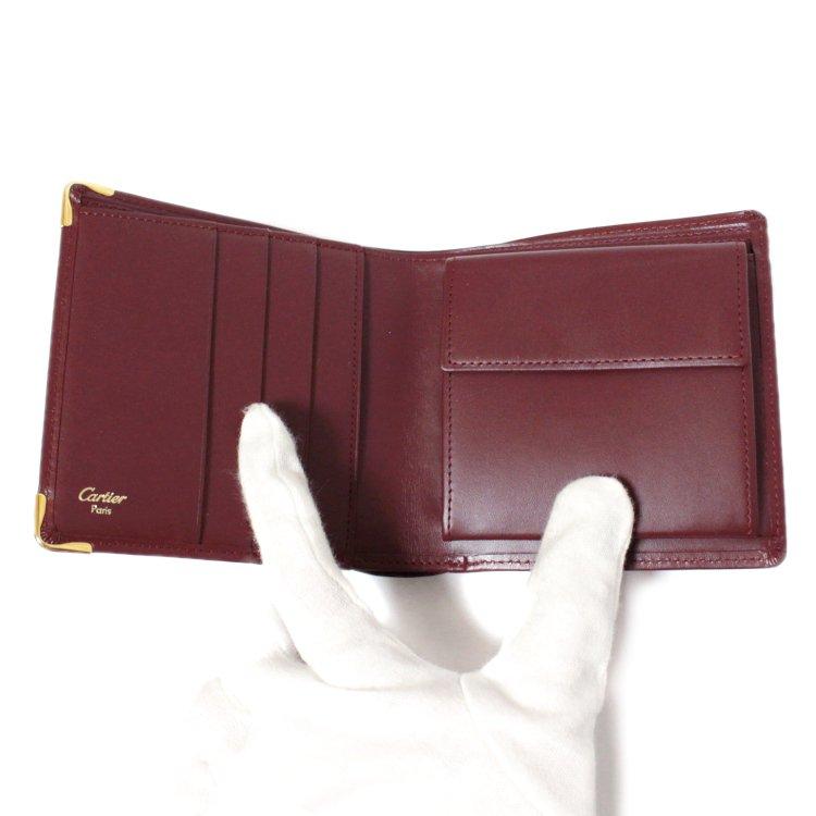 Cartier カルティエ ヴィンテージ<br>マストライン二つ折り財布