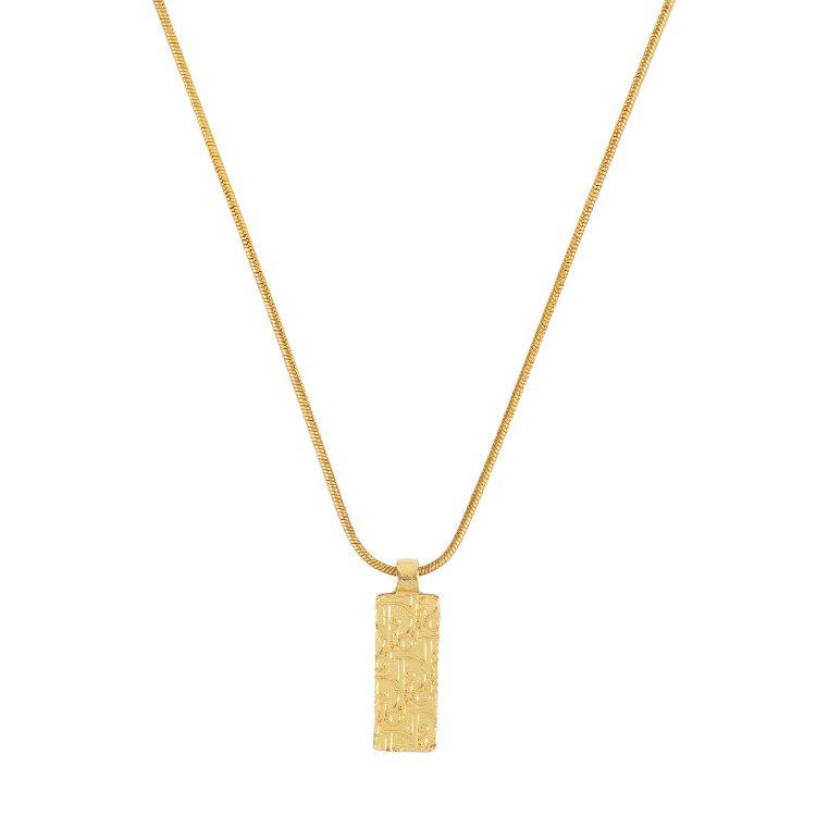 Dior ディオール ヴィンテージ<br>トロッター×ラインストーンゴールドネックレス
