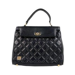 GIVENCHY ジバンシー ヴィンテージ<br>キルティングレザーハンドバッグ