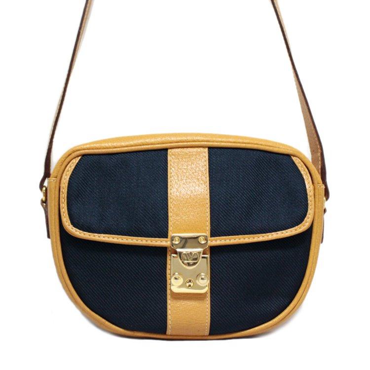 VALENTINO ヴァレンティノ ヴィンテージ<br>バイカラーコンパクトショルダーバッグ