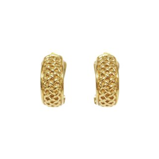 Dior ディオール ヴィンテージ<br>ハーフフープイヤリング ゴールド