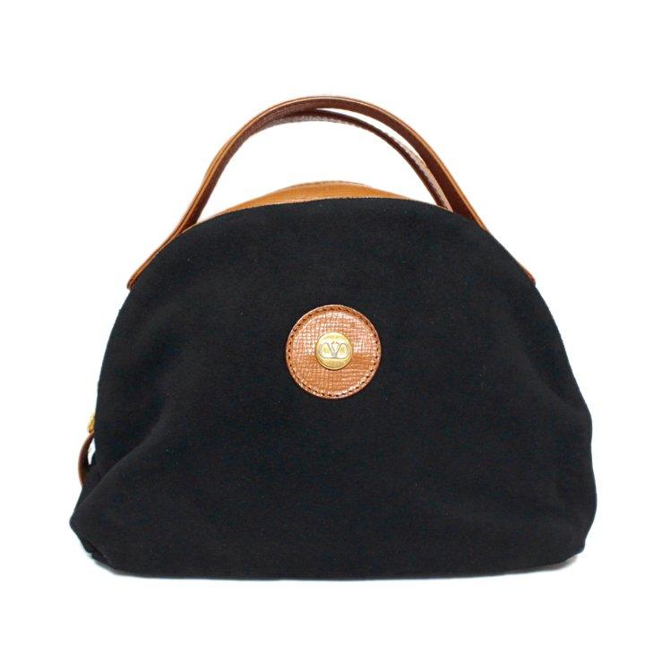 VALENTINO ヴァレンティノ ヴィンテージ<br>バイカラーハンドバッグ