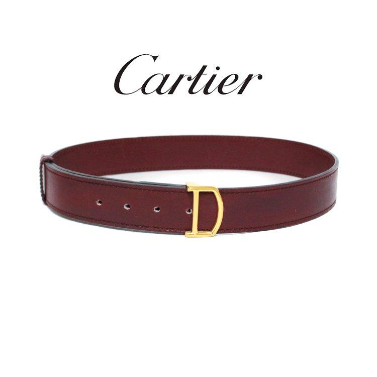 Cartier カルティエ ヴィンテージ<br>マストラインレザーベルト 61-69