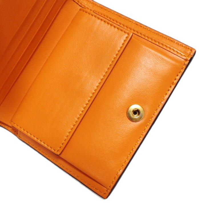 VERSACE ヴェルサーチ ヴィンテージ<br>メデューサレザー二つ折り財布 オレンジ