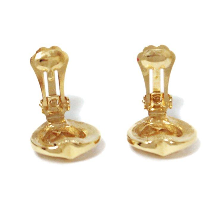 Dior ディオール ヴィンテージ<br>エンブレムロゴハートイヤリング