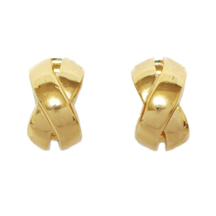 Dior ディオール ヴィンテージ<br>ゴールドクロスイヤリング