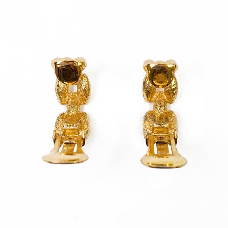 Dior ディオール ヴィンテージ<br>チェーンモチーフハーフフープイヤリング ゴールド