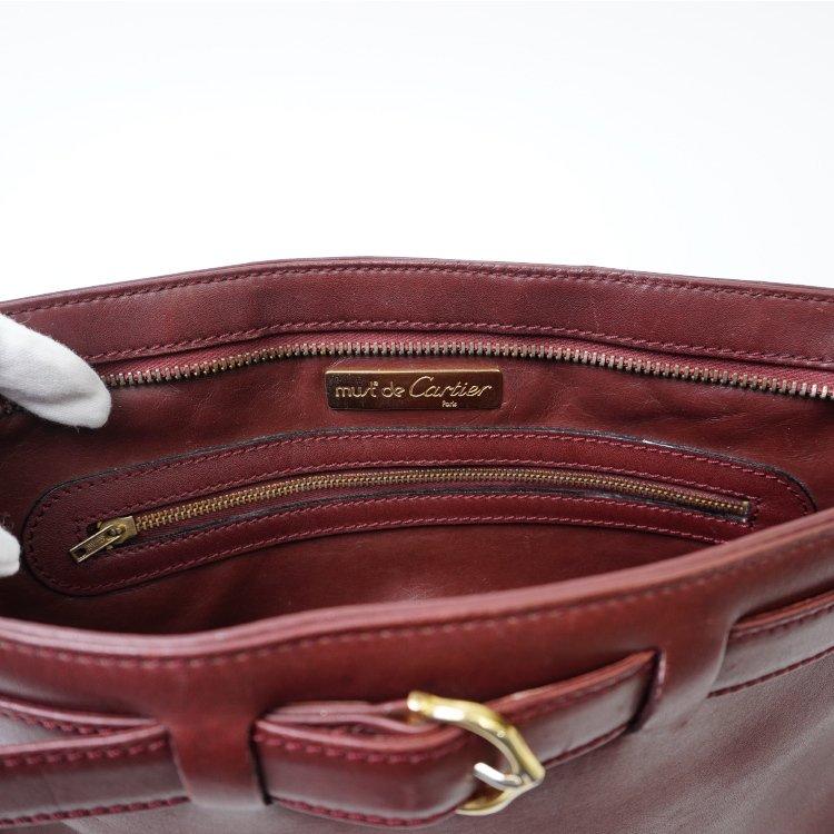 Cartier カルティエ ヴィンテージ<br>マストラインベルトレザーショルダーバッグ