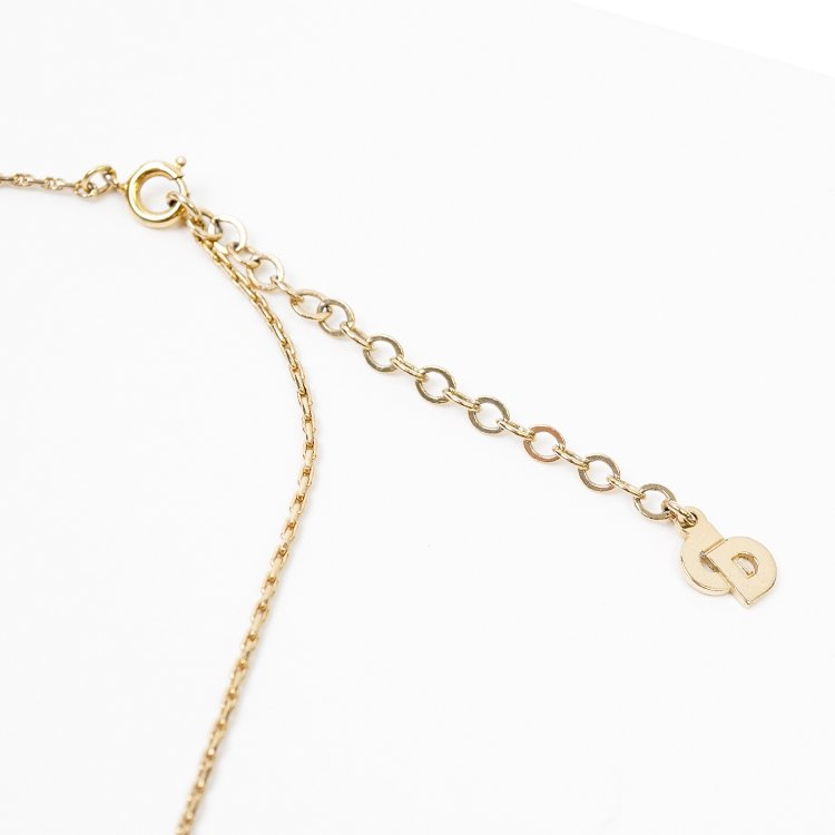 Dior ディオール ヴィンテージ<br>フェイクパールモチーフネックレス ゴールド