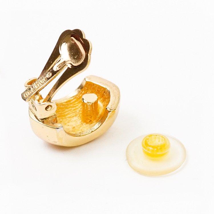 Dior ディオール ヴィンテージ<br>ワイドフープイヤリング ゴールド