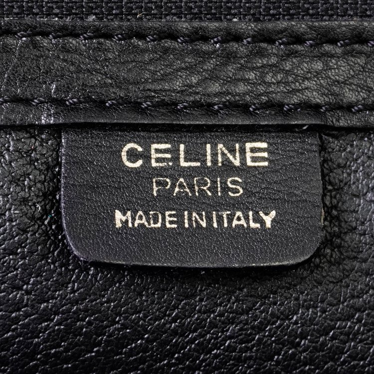 CELINE セリーヌ ヴィンテージ<br>2wayレザーハンドショルダーボストンバッグ ブラック