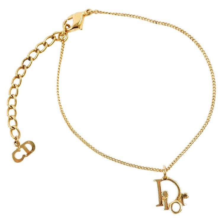Dior ディオール ヴィンテージ<br>ロゴチャームブレスレット