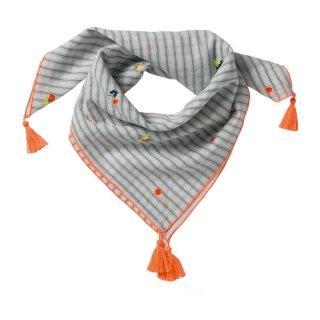 BONHEUR DU JOUR(ボヌール ドゥ ジュール) ストライプフラワースカーフ