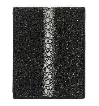ガルーシャ ショート財布(連石) キャビア ブラック
