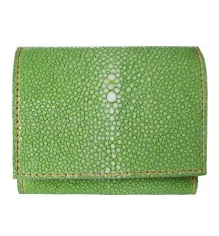 三つ折りミニ財布 ポリッシュ レモングリーン