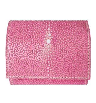 三つ折りミニ財布 ポリッシュ ピンク