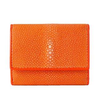 三つ折りミニ財布 ポリッシュ オレンジ