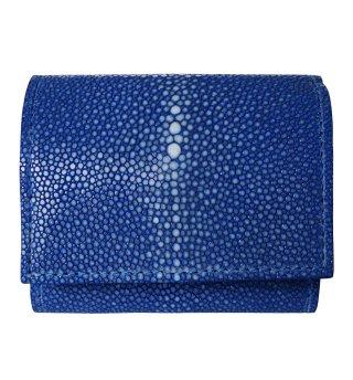 三つ折りミニ財布 ポリッシュ ブルー