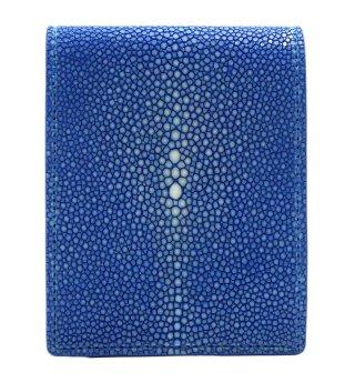 ショート 財布 (コインケースあり) ブルー