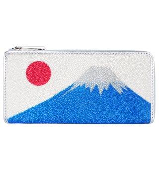 長財布 L型ファスナー キャビア スパークリング 富士山