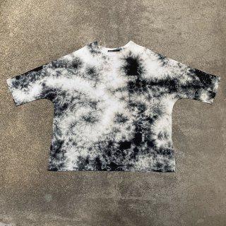 Crew Neck Cotton T Shirt Color No.1806(ブラック*グレイ)