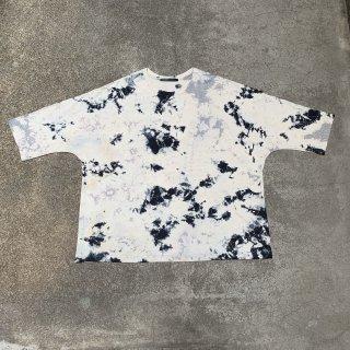 Crew Neck Cotton T Shirt Color No.1807(グレイ*ブラック*アイボリー)