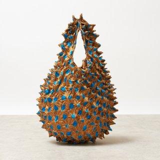 Large Dot Petit bag Color No.1861(ゴールド*ライトブルーDot)