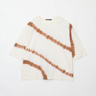 Crew Neck Cotton T Shirt Color No.BEBR(ベージュ*ブラウン)