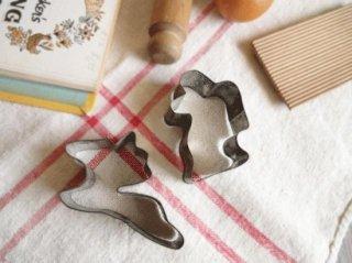 イギリスアンティーク Tala社クッキー型(サンタとトナカイ)