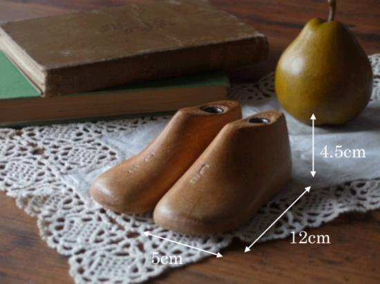 アンティーク 子供の木製靴型 サイズ3