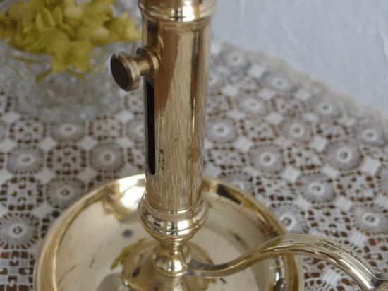 フランスアンティーク 真鍮のキャンドルホルダー(ハンドル付き)