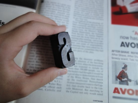 イギリスアンティーク プリンターブロックセット(1)