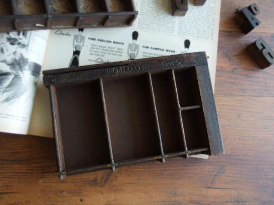 アンティーク プリンタートレイとプリンターブロックのセット(1)