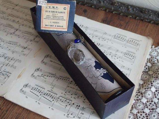 アンティーク ピアノロール(シャンデリアパーツのチャーム付き)