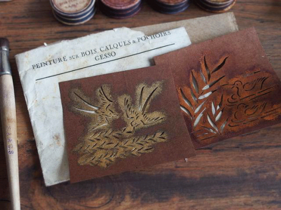 フランス アンティークの画材箱