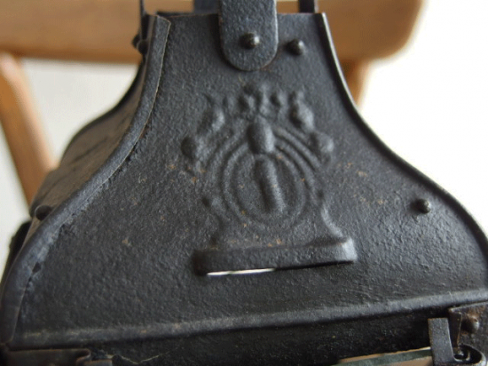 フランス アンティーク黒いブリキのランタン