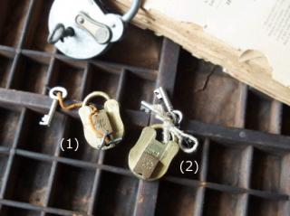 イギリス製アンティークのくま鍵(南京錠)(2)