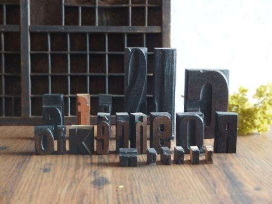 フランス アンティーク プリンターブロックのセット