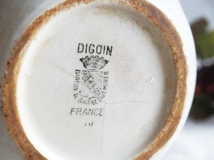 DIGOIN アンティーク 小花の陶器ジャグ