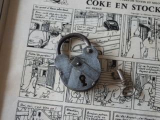 フランスのアンティーク南京錠(くまのパドロック)