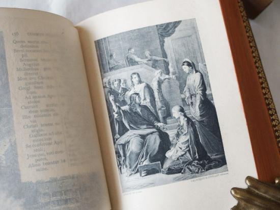 フランス 革表紙のアンティーク本( MISSEL ミサ典書 祈祷書)