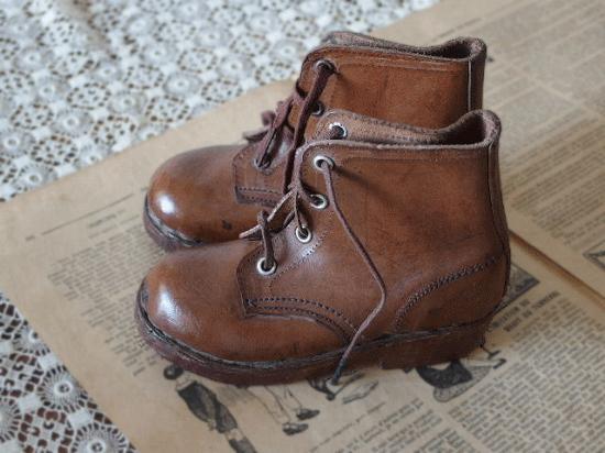 アンティーク 革製の子供靴(レザーブーツ)