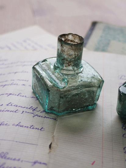 アンティーク インクボトル2個セット