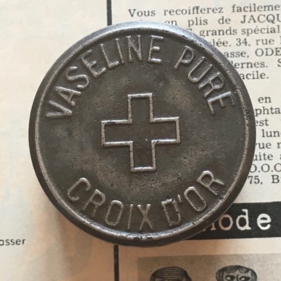 フランスアンティーク ワセリン缶